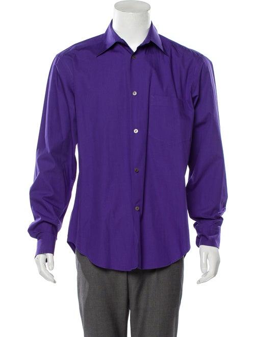 Dries Van Noten Woven Button-Up Shirt indigo