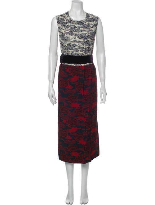 Dries Van Noten Printed Long Dress