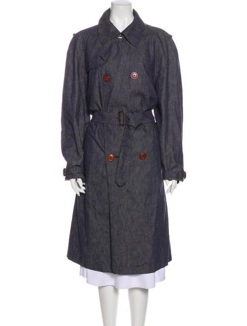 Dries Van Noten Trench Coat Blue