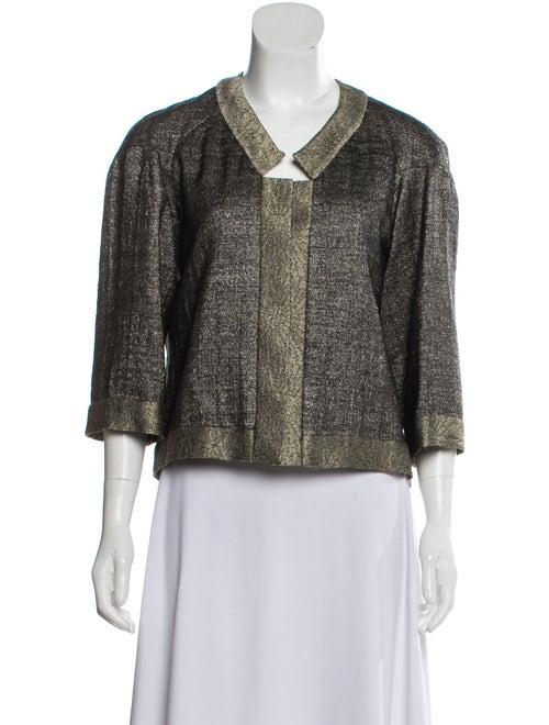 Dries Van Noten Wool Metallic Jacket Silver
