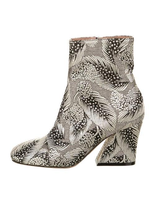 Dries Van Noten Printed Boots Silver