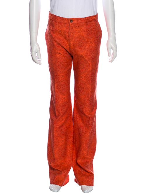Dries Van Noten Lace Pattern Pants Orange