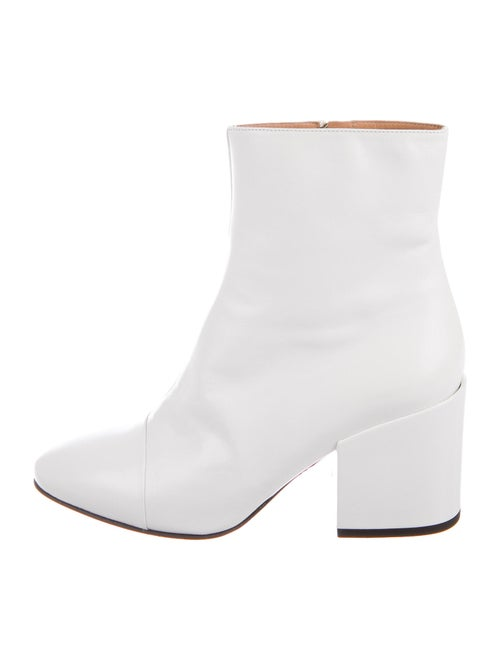 Dries Van Noten Leather Boots White