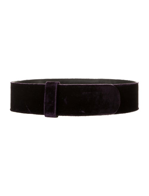 Dries Van Noten Velvet Hip Belt Purple