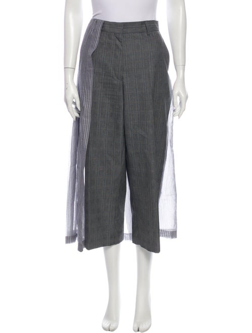 Dries Van Noten Striped Wide Leg Pants Blue