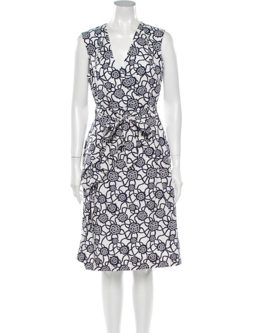 Dries Van Noten Printed Knee-Length Dress White