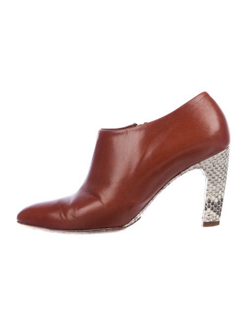 Dries Van Noten Leather Boots Brown