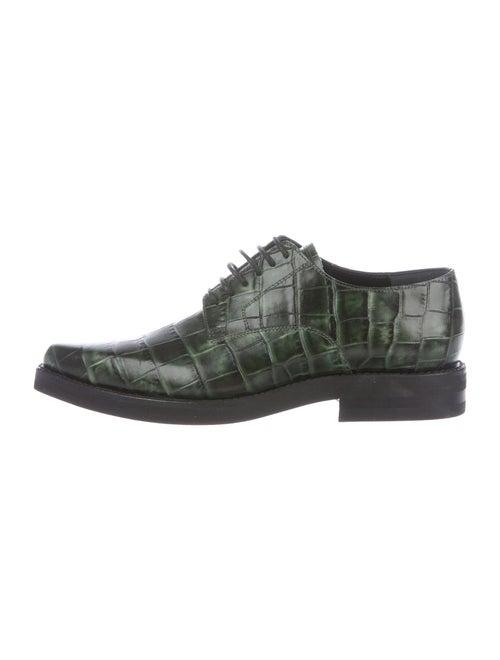 Dries Van Noten Leather Oxfords Green