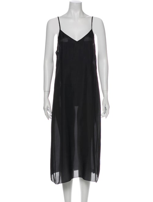 Dries Van Noten Silk Long Dress Black