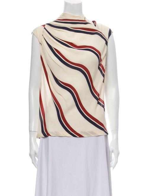 Dries Van Noten Silk Striped Top
