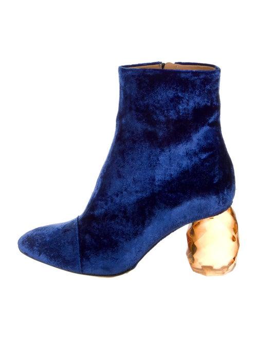 Dries Van Noten Printed Boots Blue