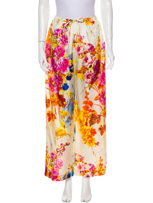 Dries Van Noten Floral Print Wide Leg Pants