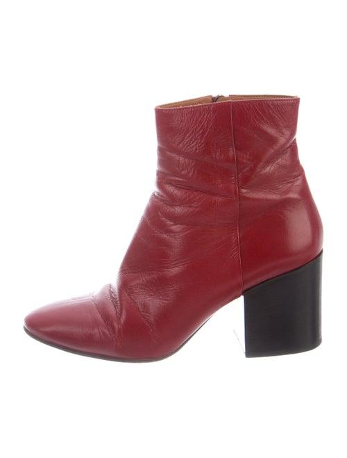 Dries Van Noten Leather Boots Red