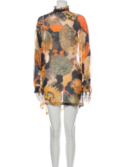 Dries Van Noten Silk Mini Dress