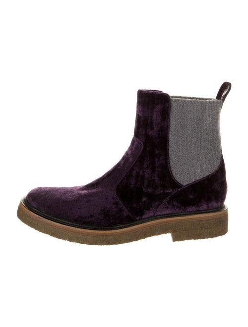 Dries Van Noten Chelsea Boots Purple