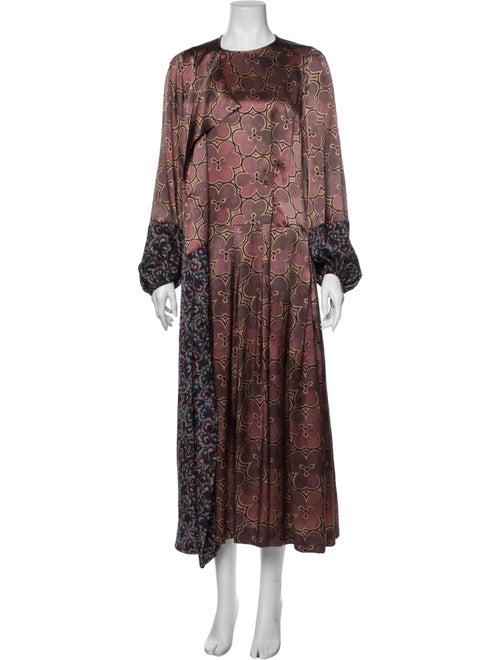 Dries Van Noten Silk Long Dress