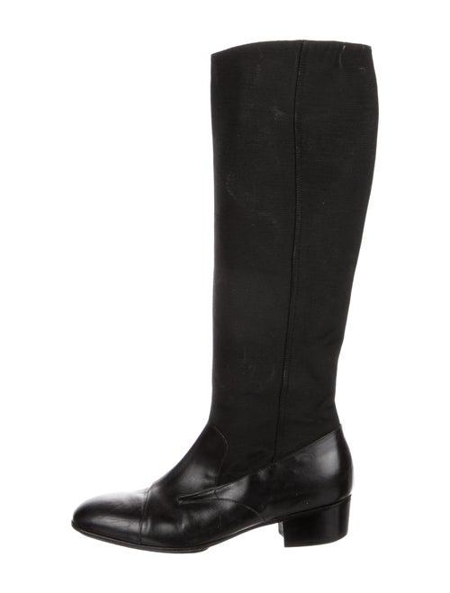 Dries Van Noten Riding Boots Black