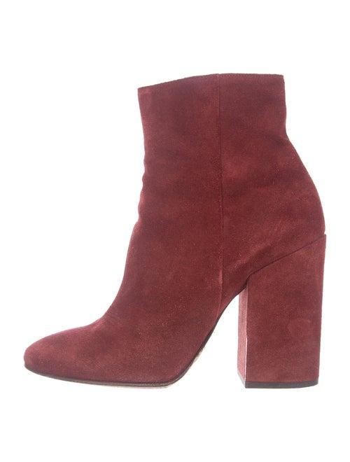 Dries Van Noten Suede Boots Red