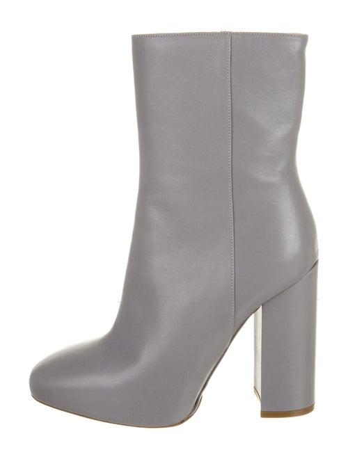 Dries Van Noten Leather Boots Grey