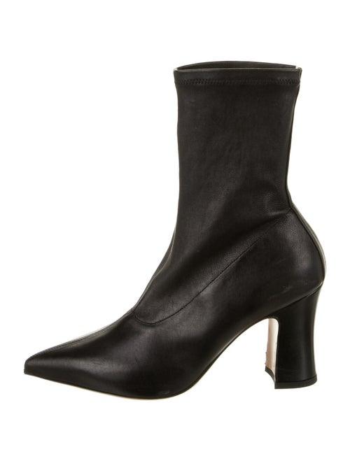 Dries Van Noten Leather Sock Boots Black