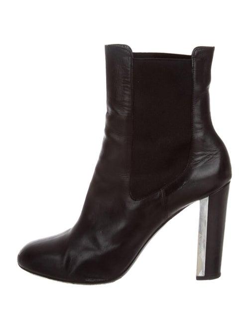Dries Van Noten Leather Chelsea Boots Black