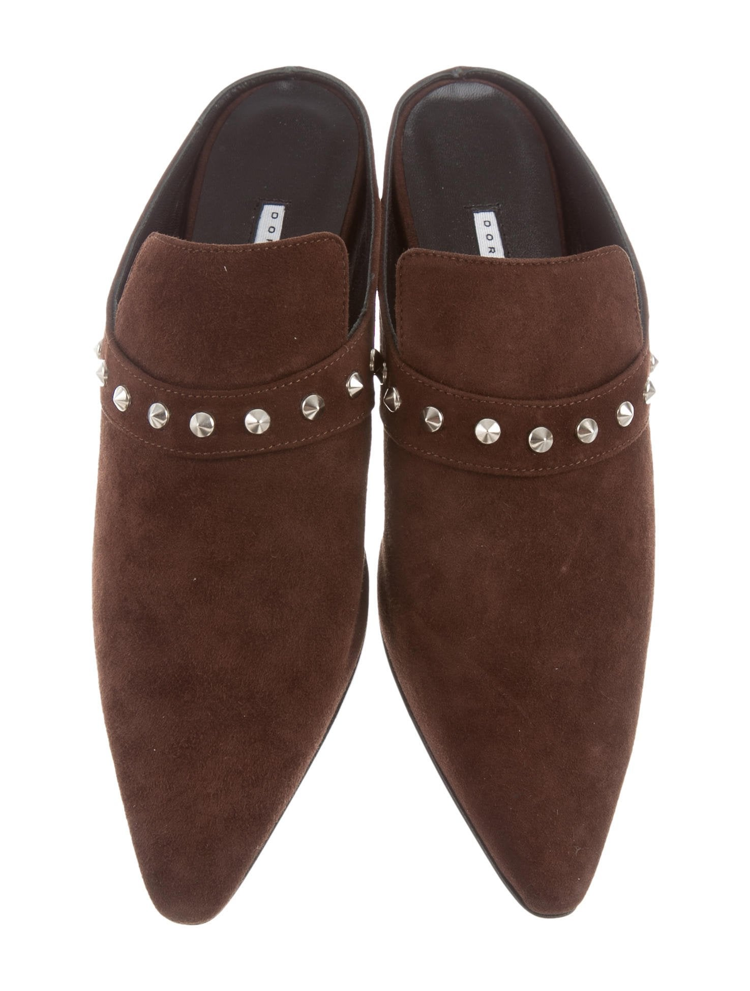 view cheap price Dorateymur Suede Spiked Mules w/ Tags free shipping for nice outlet purchase e8bIRW