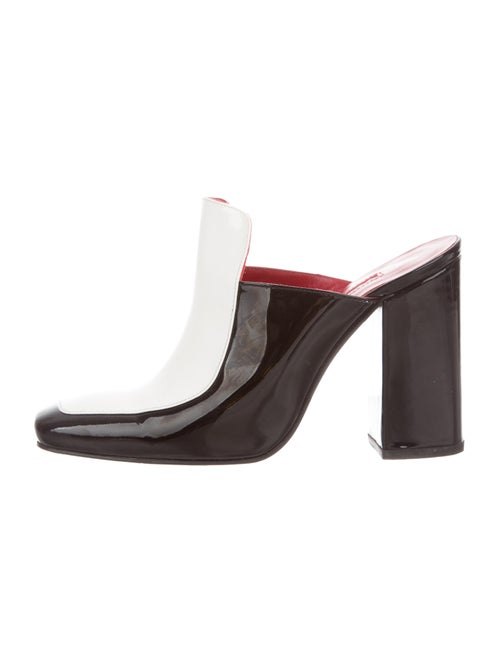 Dorateymur Turbojet Patent Leather Square-Toe Mule