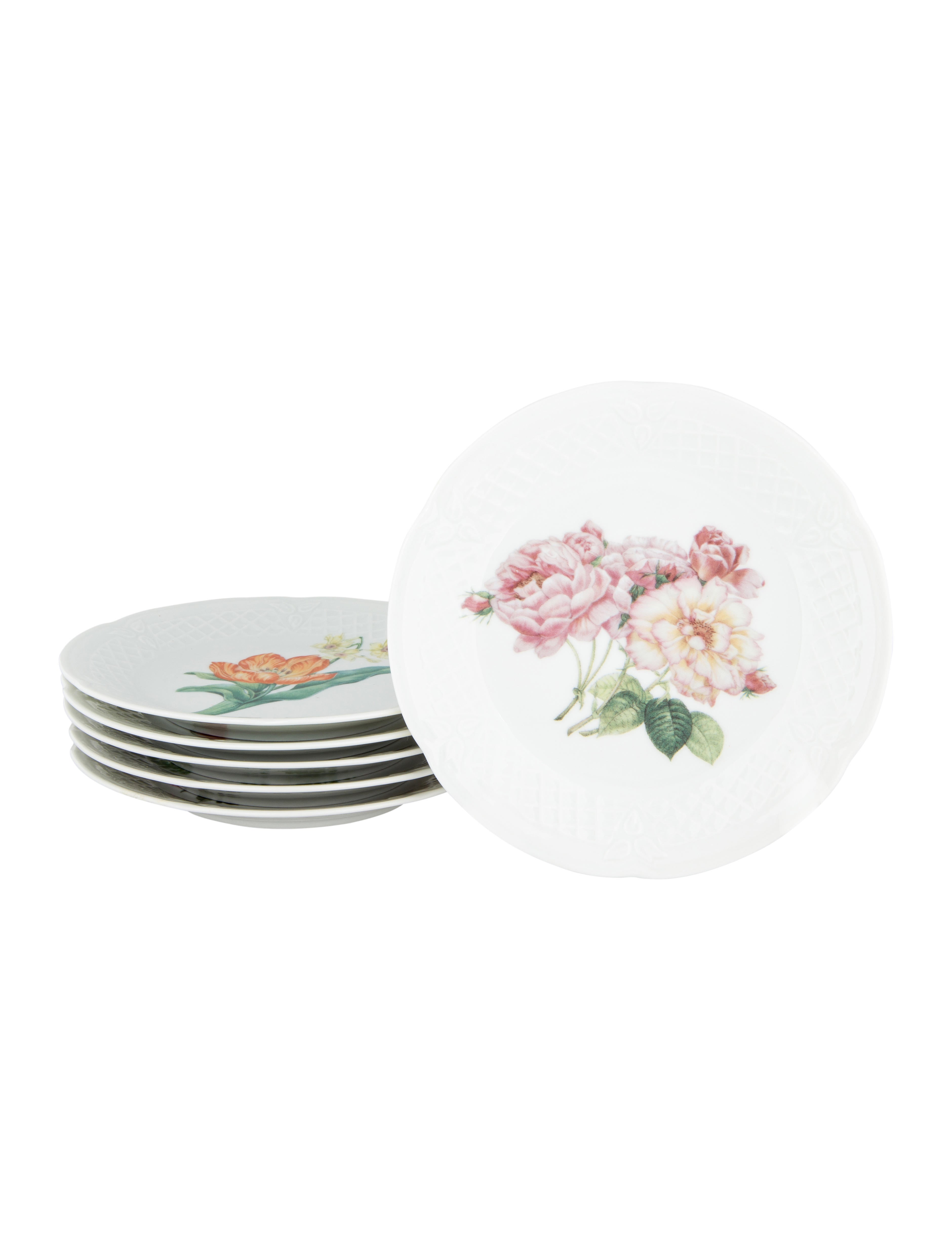 philippe deshoulieres spring bouquet canap plates