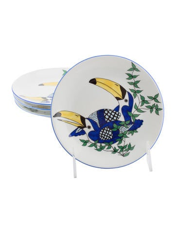Philippe deshoulieres set of 4 jungle animals canap for Philippe deshoulieres canape plates