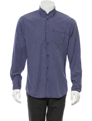 Dsquared plaid button up shirt clothing dsq20984 for White shirt brown buttons