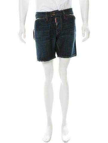 Dsquared² Distressed Denim Shorts None