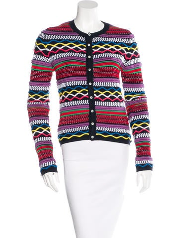 Dsquared² Jacquard Button-Up Cardigan None