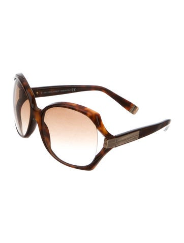 Marbled Oversize Sunglasses