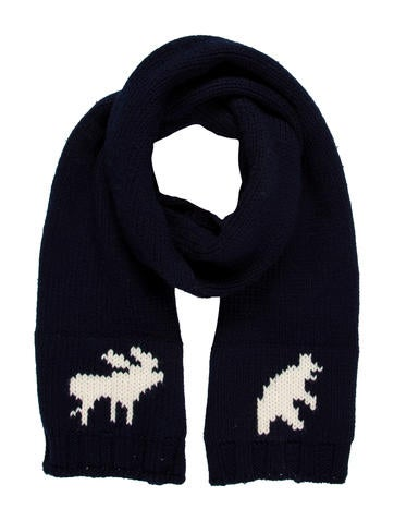 Dsquared² Wool Intarsia Scarf None