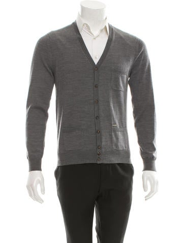 Dsquared² Wool Rib Knit-Trimmed Cardigan None