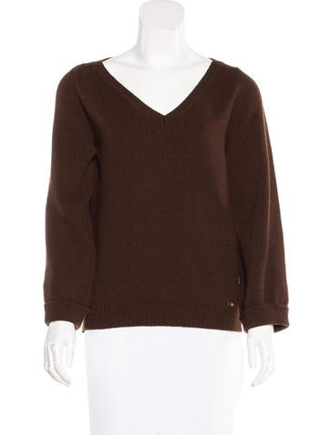 Dsquared² V-Neck Virgin Wool Sweater None