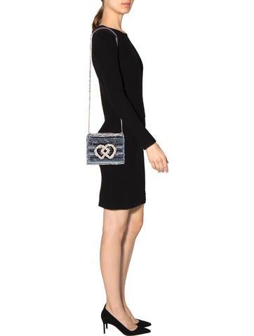 Embellished Denim Crossbody Bag