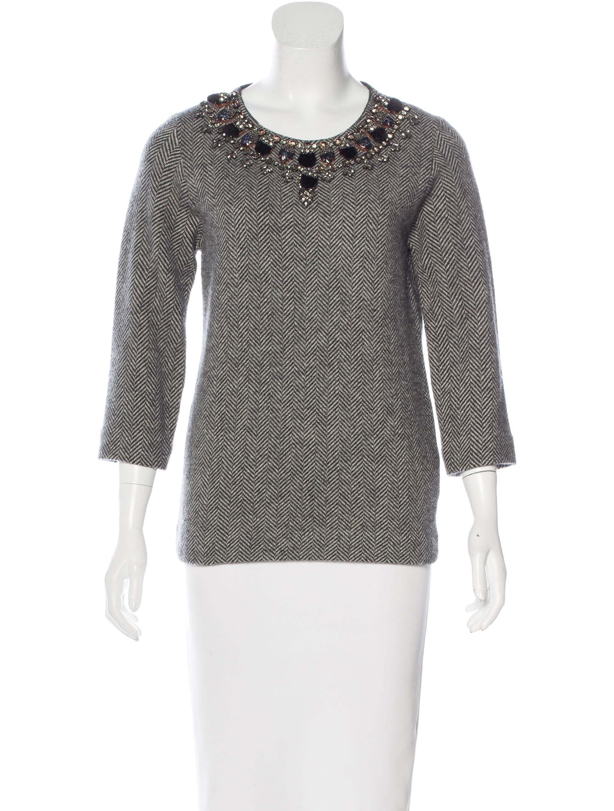 Dsquared wool embellished top clothing dsq24916 the for Best wool shirt jackets