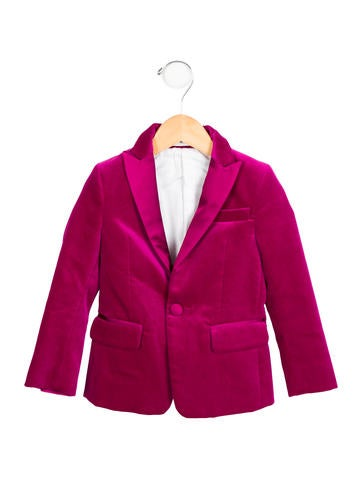Dsquared² Girls' Notch-Lapel Velvet Blazer w/ Tags None