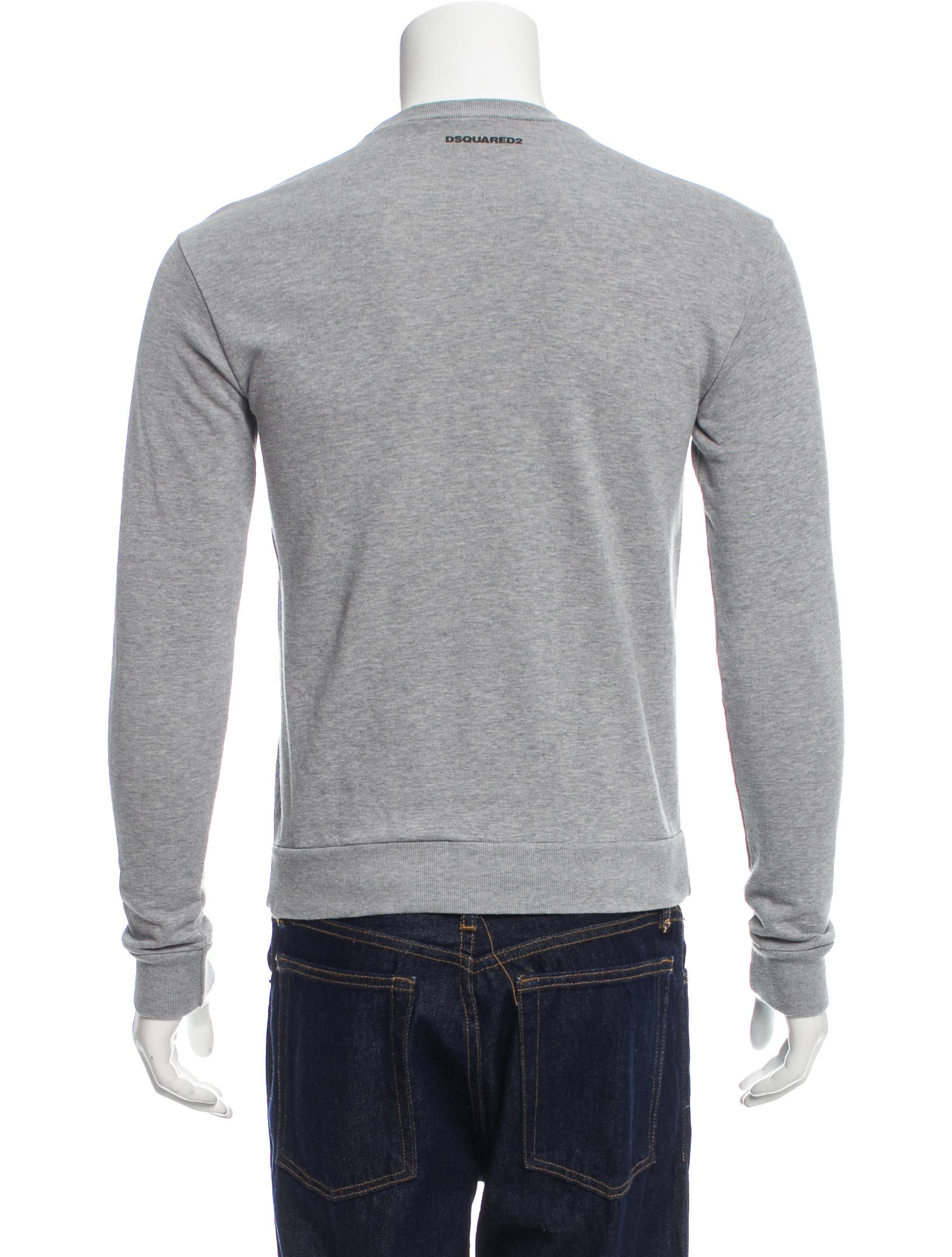 Shop Old Navy's Graphic Crew-Neck Sweater for Men: Rib-knit crew neck.,Long sleeves, with rib-knit cuffs.,Intarsia graphic across front.,Rib-knit hem.,Soft, thick cotton-blend yarn.