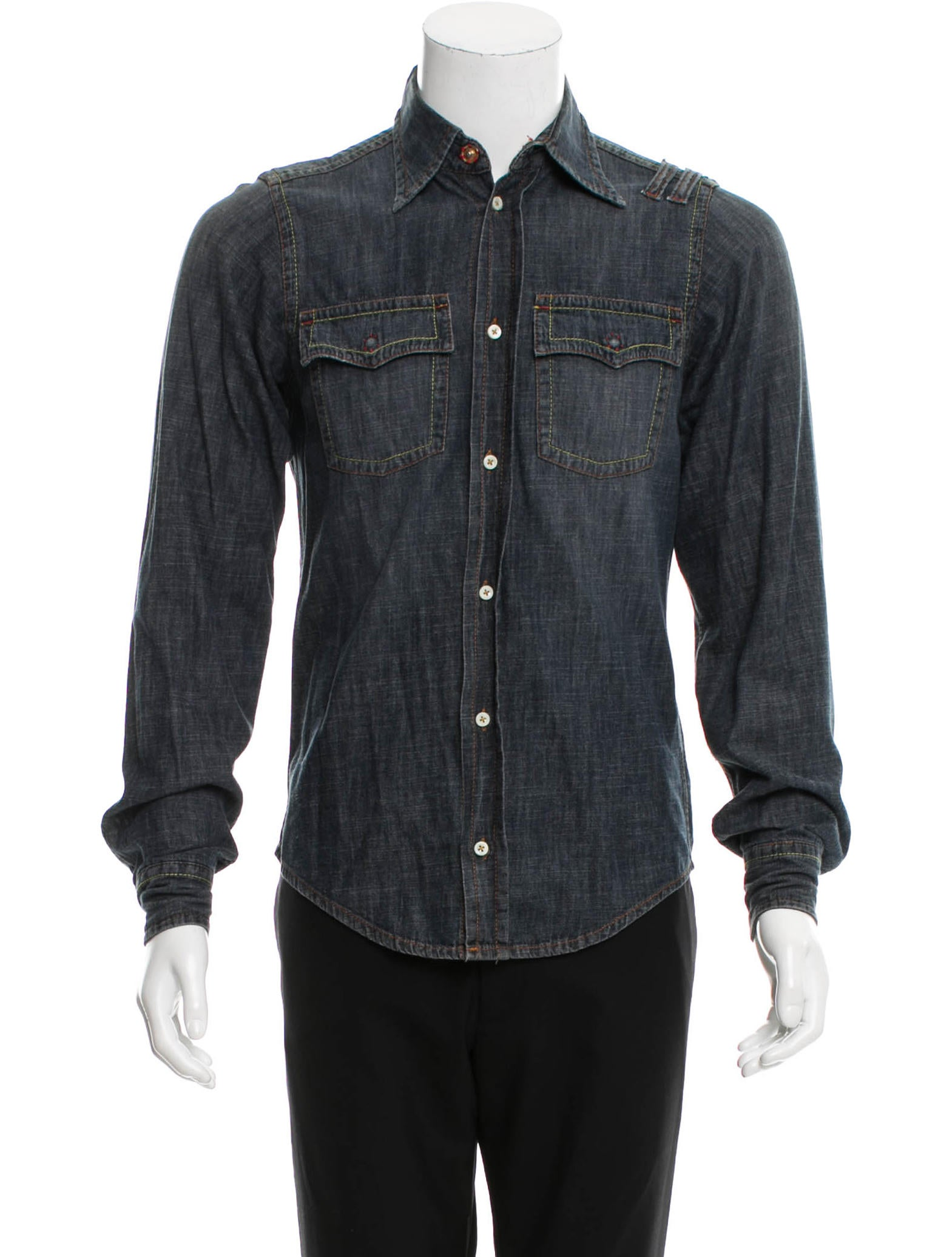 Dsquaredu00b2 Denim Button-Up Shirt - Clothing - DSQ25291 ...