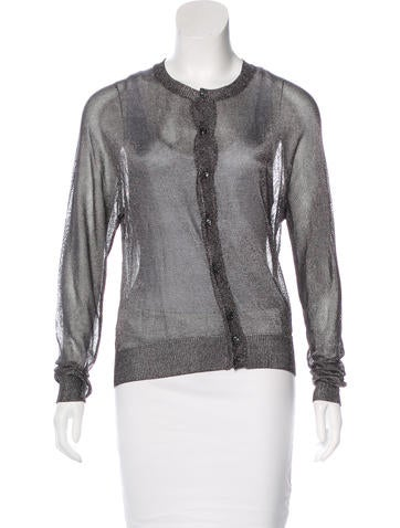 Dsquared² Knit Metallic Cardigan None