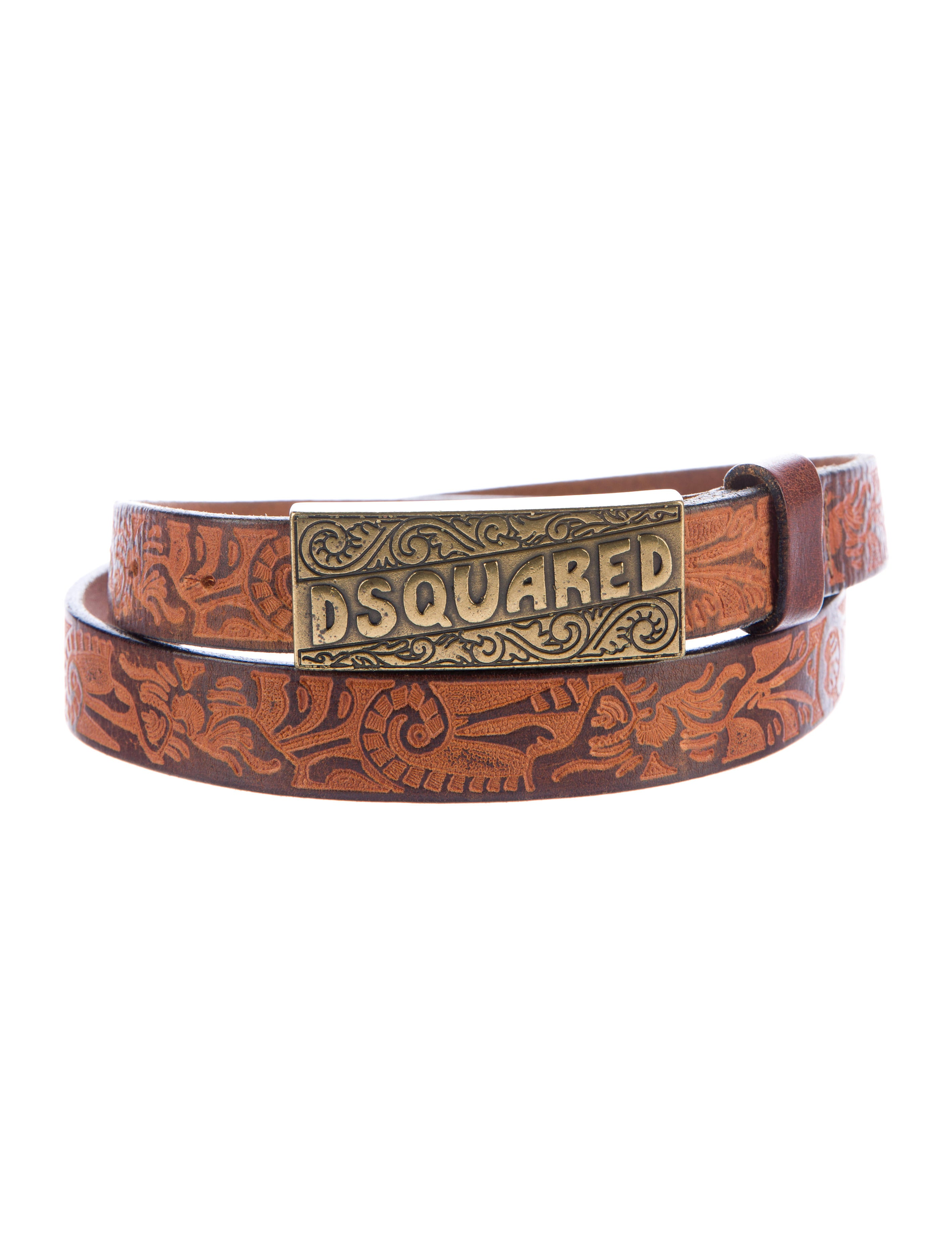 dsquared 178 embossed leather belt accessories dsq25528