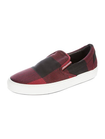 dsquared 178 plaid slip on sneakers shoes dsq25681 the