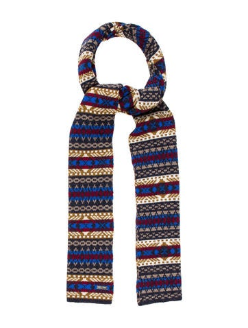 Dsquared² Intarsia Wool Scarf w/ Tags None