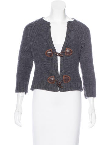 Dsquared² Wool Crop Cardigan None