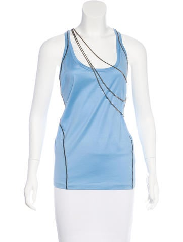 Dsquared² Chain-Trimmed Sleeveless Top w/ Tags None