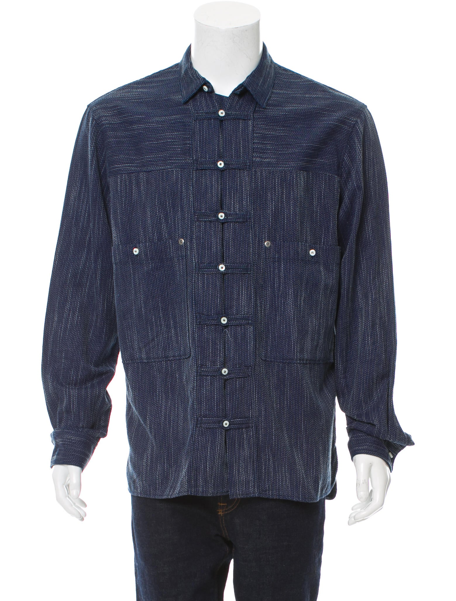 Dsquared striped button up shirt clothing dsq25905 for Striped button up shirt mens