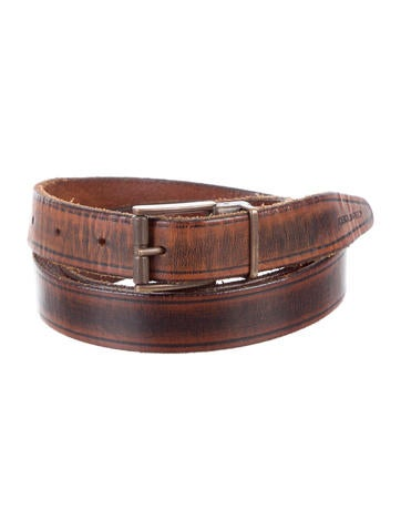 Dsquared² Distressed Leather Belt None