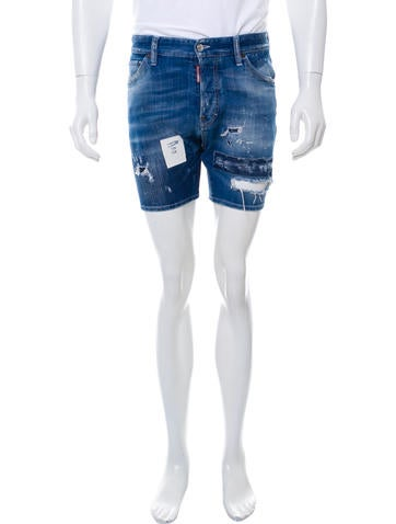 Dsquared² Distressed Denim Shorts None